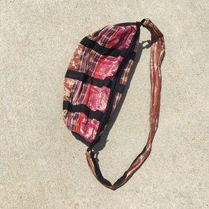 Boho crossbody zipper bag